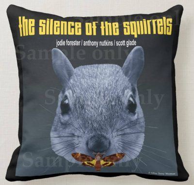 Silence of the Squirrels cushion